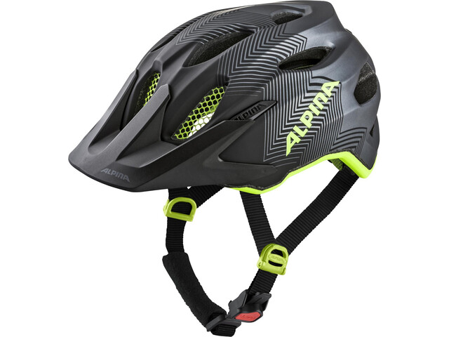 Alpina Carapax Casque Enfant, black-neon-yellow